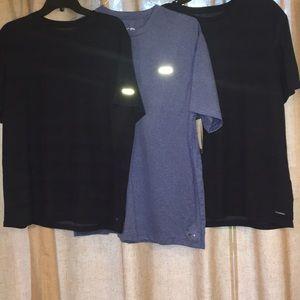 Three Champion duo dry max poly. athletic shirts
